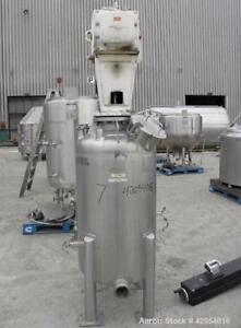 Used Letsch Precision Stainless Tank 80 Gallon 316l Stainless Steel Vertica