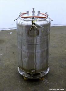 Used Letsch Pressure Tank 60 Gallon Capacity 316l Stainless Steel Vertical
