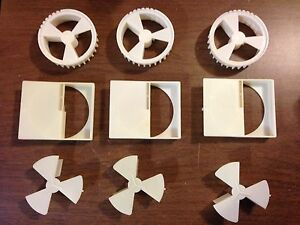 50 Sets Vendstar 3000 Portion Wheel Sets Wheel With Brush Housing 3 Piece X 50