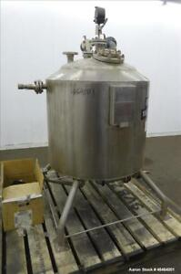 Used Alloy Fab Reactor 100 Gallon Model Ta 53p 316l Stainless Steel Vertica