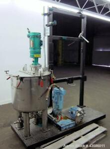 Used Graco Mixing System Consisting Of 1 Graco Tank 45 Gallon 304 Stainles
