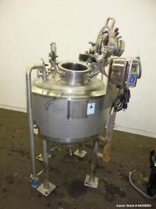 Used Precision Stainless Reactor 53 Gallon 316l Stainless Steel Vertical 30