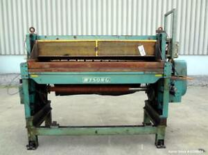 Used Wysong Power Squaring Shear Carbon Steel 72 Wide Cutting Length Driven