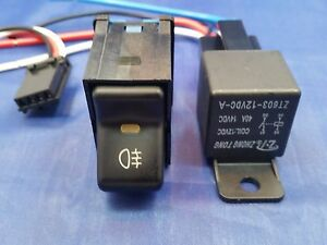 Fits Jeep Tj 97 06 Wrangler Rocker Switch Running Lights Includes 40 Amp Relay