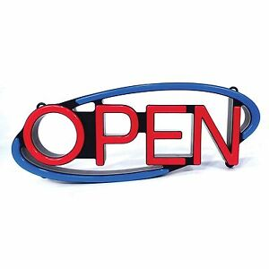 Large Mystiglo Retail Catering Remote Multi directional Led Open Business Sign