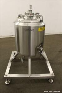 Used dci Reactor 100 Liter 26 Gallon 316l Stainless Steel Vertical 20 Dia