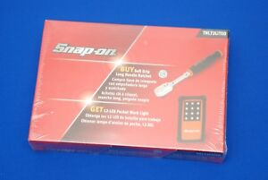 New Snap On 1 4 Dr 72 Tooth Soft Grip Long Handle Ratchet Thl72o Led Light Kit