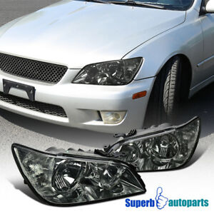 For 2001 2005 Lexus Is300 Chrome Headlights Head Lamps Replacement Smoke Pair