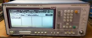 Rohde Schwarz Sfq Dvb t Tv Test Transmitter With Option B5 And B6