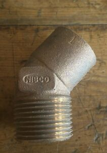 lot Of 26 Cast Bronze 45 Degree Elbow 1 Solder End Female X Npt Male Nibco