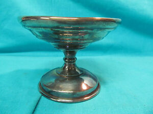 Antique E G Webster Silverplate 4 Candy Dish Compote Bowl Spider Web Mark 200