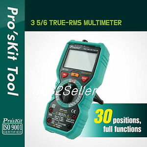 Proskit Mt 1707 3 5 6 True Rms Multimeter Electrical And Electronic Testing New