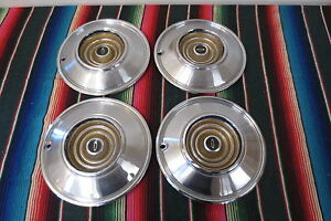 Vintage 1960 S Chrysler Hubcaps Wheel Covers Hub Caps Trim Molding