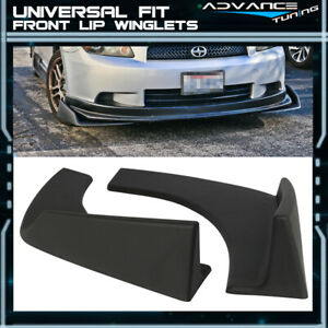 Universal Front Rear Bumper Lip Splitters Winglets Canards 30x4 Inches 2pc Pp