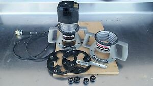 Porter Cable 75192 Production Router W 2 75361 Base 4 Collet Assemblys