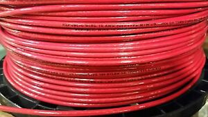 2500 Thhn 10 Awg Gauge Red Nylon Stranded Copper Building Wire