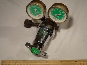 Linde R 76 150 540 8702 Trimline Dual Gauge Oxygen Regulator Steam Punk Vintage