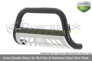 Aries 3in Stealth High Gloss Black Ss Bull Bar 2007 2015 Select Chevy Gmc Models