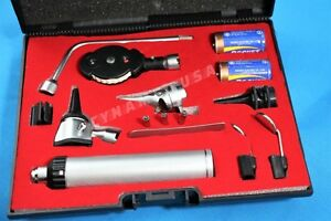New Premium Incredible Ophthalmoscope Otoscope Diagnostic Set W Hard Case 3 B