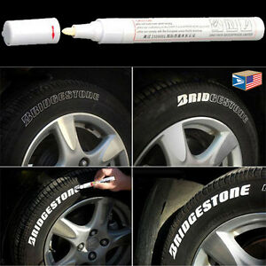 Tire Letter White Permanent Paint Marker Side Wall Rubber Pen Lot 1 2 3 5 6 12