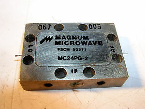 Magnum Microwave Double Balanced Mixer Ghz Pin In And Out Model Mc24pg 2