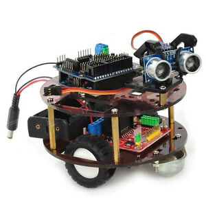 Diy Intelligent Tortoise Smart Wheel Robot Module Black