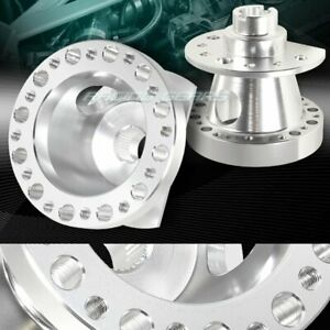 Silver Aluminum 6 Hole Steering Wheel Hub Adapter Kit Fit 88 91 Honda Crx Civic
