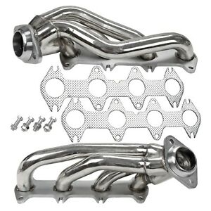 Stainless Exhaust Manifold Shorty Headers Manifold Fits Ford F150 5 4l V8 04 10