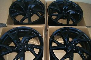 19 Nissan 370z 370 Z Factory Oem 19 Rays Wheels Rims Powder Coated Black