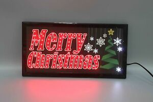 merry Christmas Led Animated Sign Home Decor Hanging Color Message Display
