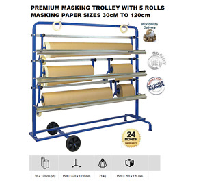 Gys Premium Masking Machine Complete With 5 Rolls Paper Sizes 30cm To 120cm