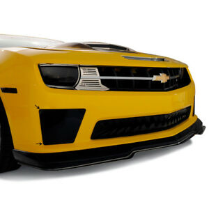 Smoked Bumblebee Style Fog Light Covers For 10 13 Chevy Camaro Ss W front Fascia