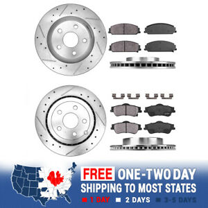 Front Rear Drill Slot Brake Rotors Ceramic Pads For 2008 2009 Pontiac G8 Gt