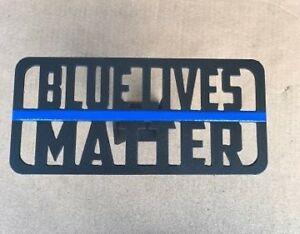 Blue Lives Matter Hitch Cover 1 8 Steel Tow Towing Reese Custom