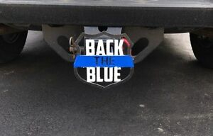 Back The Blue Hitch Cover 1 8 Steel Tow Towing Reese Custom
