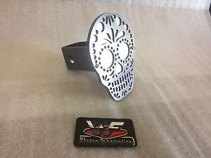 Sugar Skull Hitch Cover Two Layer 1 8 Steel Tow Towing Reese Custom