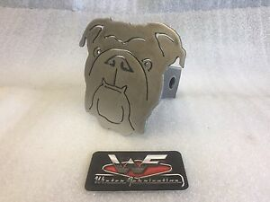 Bulldog Face Hitch Cover 1 8 Steel Tow Towing Reese Custom