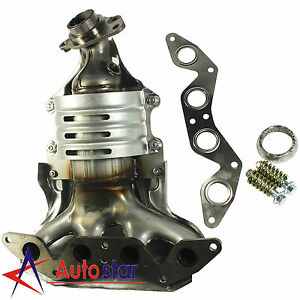 Exhaust Manifold For Honda Civic 1 7l 4 Cylinder Sohc W Catalytic Converter New