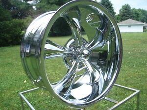 18x8 695 Ridler Racing Hot Rod Chrome Ford Mopar Dodge 5 On 4 5 Bp Wlugs