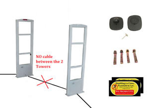 Wireless Eas Checkpoint Compatible Security System 1000 Tags With Pin Tool