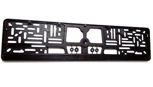 European Euro License Number Plate Frame Tag Holder Mount Free Shipping
