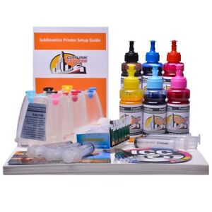 Sublimation Dye Ink Kit Continuous Ink System Fits Epson T0801 6 Ciss