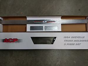 1964 Chevelle Rear Trunk Molding With Ends New