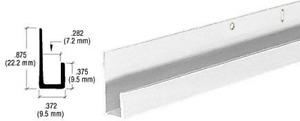 Crl j Channel Satin Anodized 1 4 Standard Aluminum 12 Ft Long