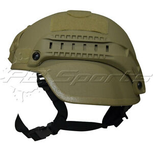 Valken V Tactical Airsoft MICH 2000 Helmet with Mount and Rails Tan NEW