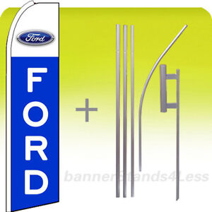 Ford Swooper Flag Kit Auto Dealer Feather Flutter Banner Sign 15 Set Bq