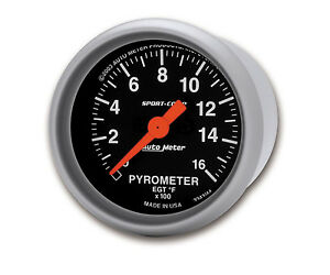 Auto Meter Sport Comp Full Sweep Electric Pyrometer Egt Gauge Kit 2 1 16 52mm