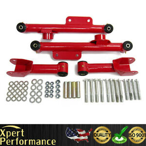 Premium Quality Ford Mustang Full Set 4 Piece Rear Control Arms Kit Red