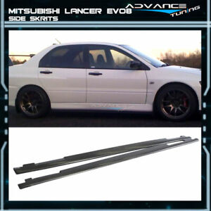 Fits 01 07 Mitsubishi Lancer Evo 7 8 9 Oe Style Pu Side Skirts