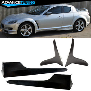 For 04 10 Mazda Rx 8 Oe Style Side Skirts Bodykits 2pcs Front Mud Flaps